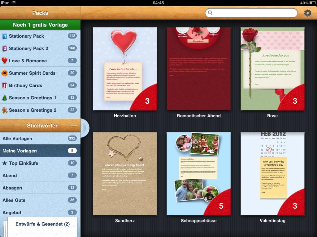 Mit Magic Mails super schöne HTML eMails vom iPad aus senden ...