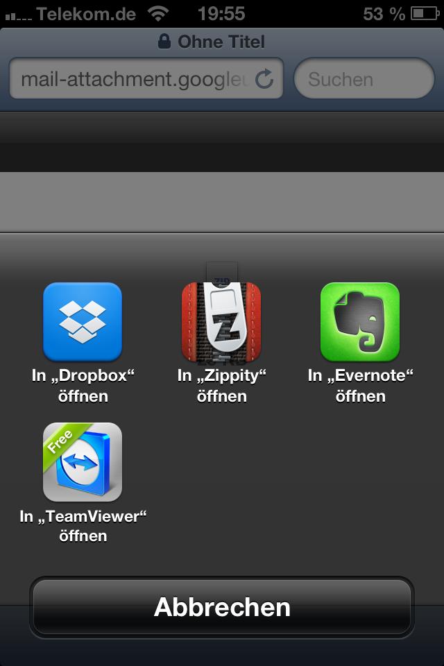 zip datei iphone