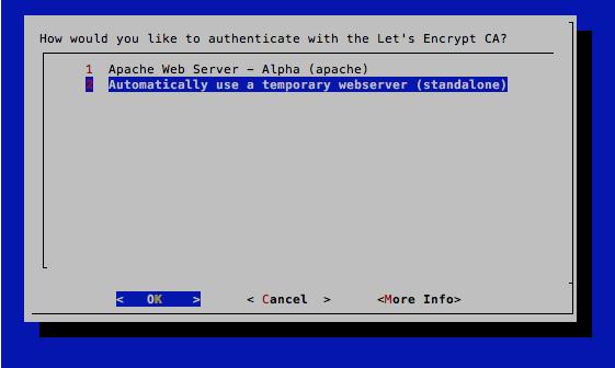 SSL-Zertifikat bei Let\'s Encrypt (letsencrypt.org) erneuern ...