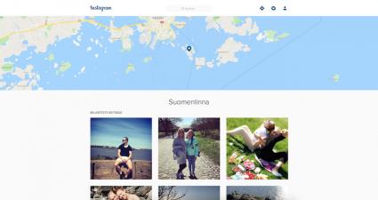 """instagram.com - Gute Ansicht der Bilder für einen """"bekannten"""" Ort"""